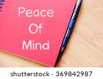 peace of mind text concept... | Shutterstock . vector #369842987