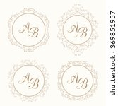 set of elegant floral monogram. ... | Shutterstock .eps vector #369851957