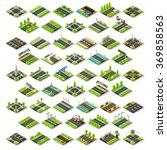 isometric building block. road... | Shutterstock .eps vector #369858563