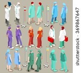 isometric medical doctor gown... | Shutterstock .eps vector #369867647