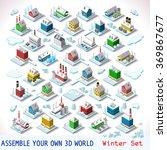 vector isometric city building... | Shutterstock .eps vector #369867677