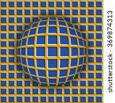 checkered ball rolling along... | Shutterstock .eps vector #369874313