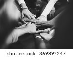 teamwork join hands support... | Shutterstock . vector #369892247