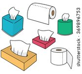vector set of tissue paper | Shutterstock .eps vector #369896753