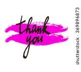 thank you.vector calligraphic... | Shutterstock .eps vector #369896873
