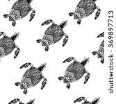 pattern with tortoises_white | Shutterstock . vector #369897713