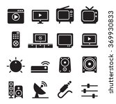 Television Icon Set