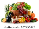 composition with organic food... | Shutterstock . vector #369956477