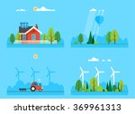 image set   organic farm ... | Shutterstock .eps vector #369961313