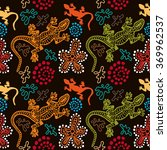 boho style seamless pattern... | Shutterstock .eps vector #369962537