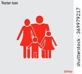 happy family icon in simple... | Shutterstock .eps vector #369979217