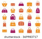 vector icons of women handbags...