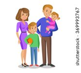 happy family portrait  smiling... | Shutterstock . vector #369993767