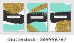 a set of three abstract brush... | Shutterstock .eps vector #369996767