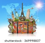 famous monuments of the world... | Shutterstock . vector #369998837