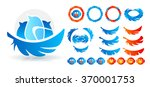 birds logo style. collection of ... | Shutterstock .eps vector #370001753