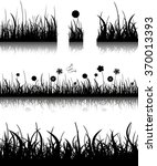 vector illustration. grass... | Shutterstock .eps vector #370013393