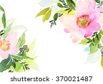 greeting card with flowers.... | Shutterstock . vector #370021487