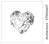 this ornament of heart shaped... | Shutterstock .eps vector #370026647