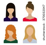 those people.avatars. women.the ... | Shutterstock .eps vector #370032047