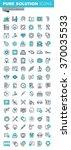 modern thin line flat design... | Shutterstock .eps vector #370035533