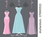 wedding bridesmaid dresses with ... | Shutterstock . vector #370045523