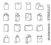 shopping bag icons. collection... | Shutterstock .eps vector #370052117
