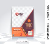a4 flyer and brochure. catalog... | Shutterstock .eps vector #370054307