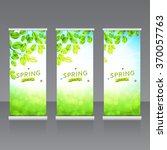 vector roll up banners... | Shutterstock .eps vector #370057763
