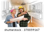 contractor talking with... | Shutterstock . vector #370059167