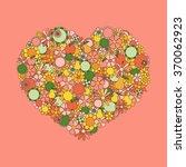 heart made of hand drawn... | Shutterstock .eps vector #370062923