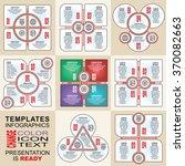 vector infographics set.... | Shutterstock .eps vector #370082663