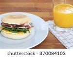 breakfast muffin  | Shutterstock . vector #370084103