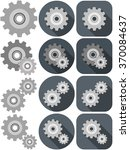 a vector illustration pack of... | Shutterstock .eps vector #370084637