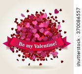 abstract bright valentine's day ... | Shutterstock .eps vector #370086557