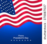 flag usa waving wind for happy... | Shutterstock .eps vector #370087037