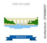Pont Du Gard In France. Flat...