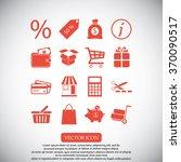shopping icons | Shutterstock .eps vector #370090517