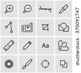 vector line graphic design icon ... | Shutterstock .eps vector #370091747