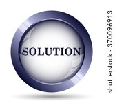 solution icon. internet button... | Shutterstock . vector #370096913