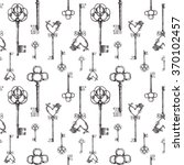 vintage keys. seamless pattern. ... | Shutterstock . vector #370102457