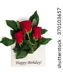 tag happy birthday with bouquet ... | Shutterstock . vector #370103657