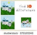 neuschwanstein castle.... | Shutterstock .eps vector #370105343