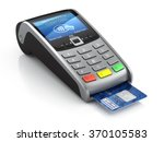 pos terminal with credit card... | Shutterstock . vector #370105583