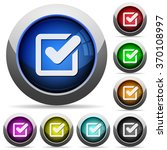 set of round glossy checkbox...
