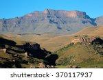 scenic drakensberg mountain... | Shutterstock . vector #370117937