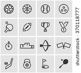 vector line sport icon set. | Shutterstock .eps vector #370118777