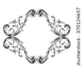 vintage baroque frame scroll... | Shutterstock .eps vector #370124657