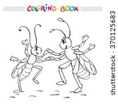 coloring book or page. two... | Shutterstock .eps vector #370125683