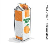 hand draw of orange juice.... | Shutterstock .eps vector #370141967